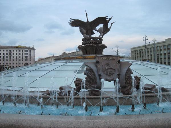 фонтан в Минске