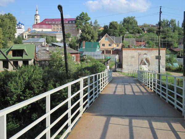 Вид на Боровск с моста