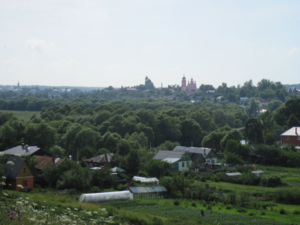 Вид на Боровск с холма