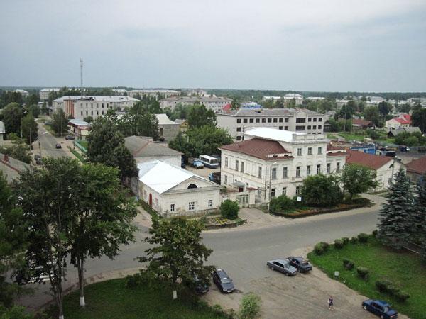 Вид  на Мышкин с Успенского собора